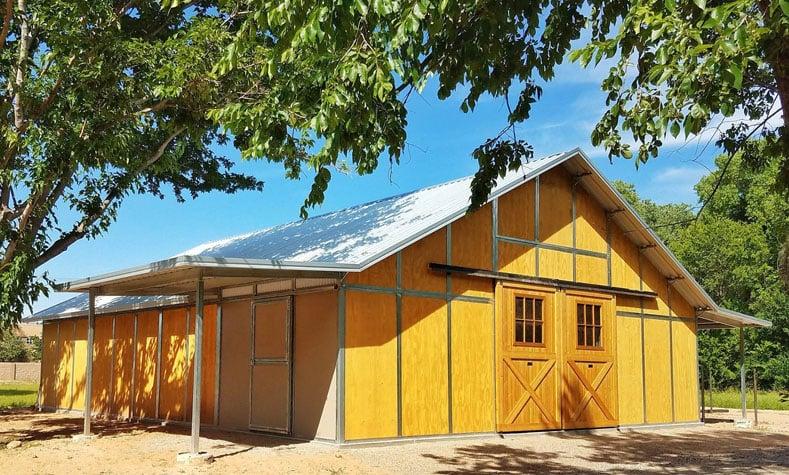 Coffman Barns Wood Sided Horse Barn