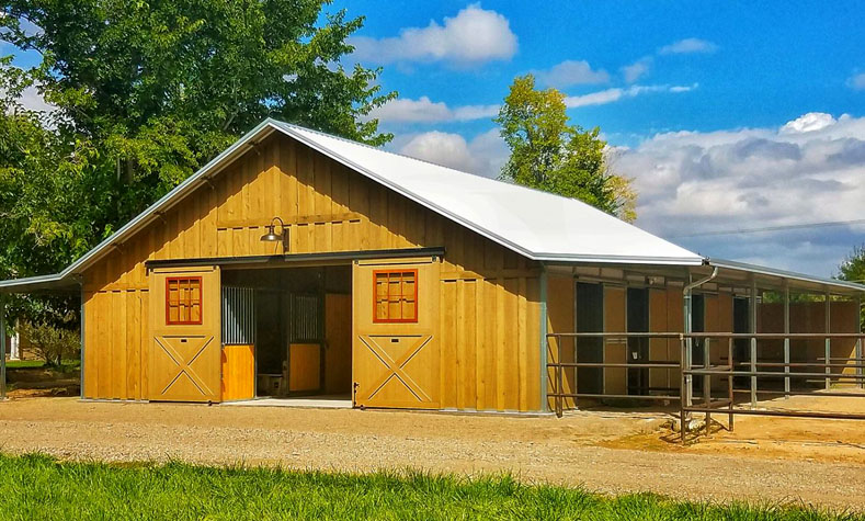 Coffman Barns, Wood Sided Horse Barns