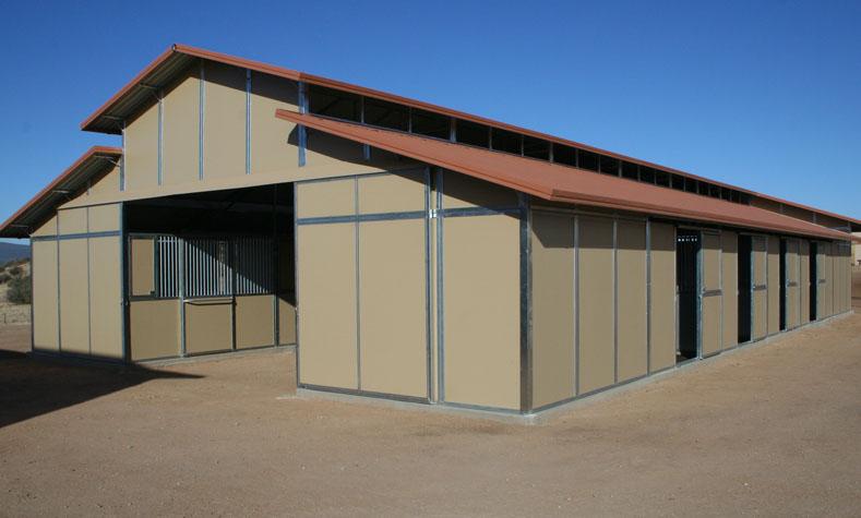 Metal Shed Row Horse Barns