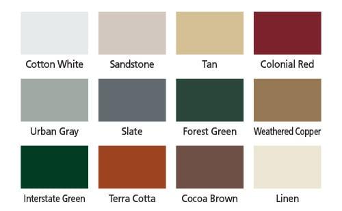 Coffman Barns Barn Building Color Options