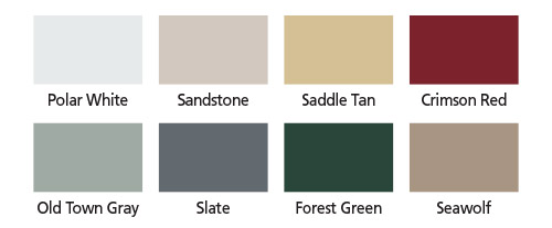 Coffman Barns Barn Building Color Options
