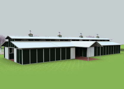 Coffman Barns Barn Building Plans Cross Breezeway PKit