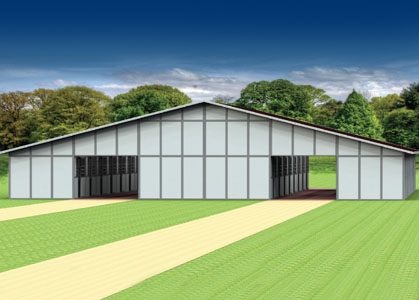 Coffman Barns Barn Building Plans Double Breezeway