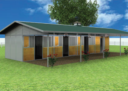 Coffman Barns Barn Building Plans Modular Shedrow