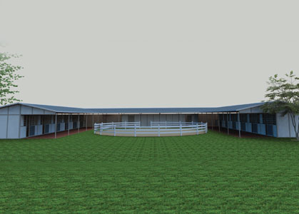 Coffman Barns Barn Building Plans U Shaped Shedrow