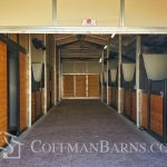 Coffman Barns Custom Hip Roof Barn