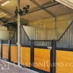 Coffman Barns Custom Hip Roof Barn