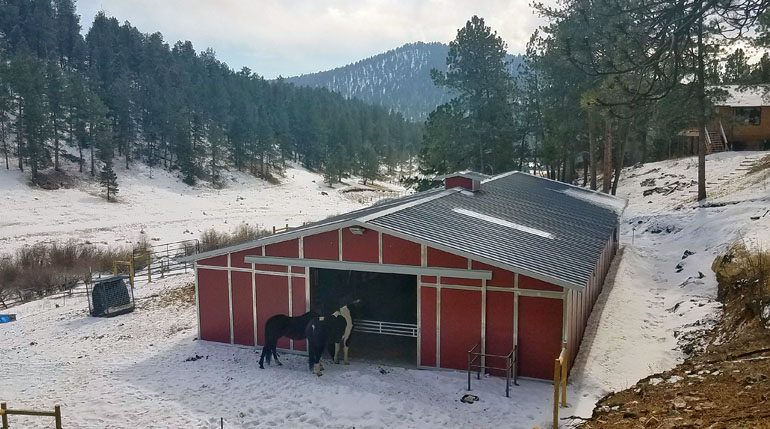 Pine Colorado Barn Project by Coffman Barns